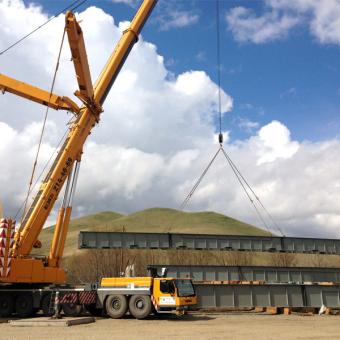 Заказ автокрана г/п 400 тонн для монтажа металлоконструкций