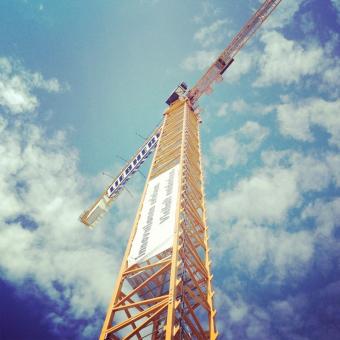 Работа башенного крана