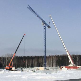 Монтаж башенного крана Comansa 10CJ140